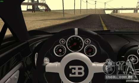 Bugatti Veyron SuperSport para GTA San Andreas vista traseira