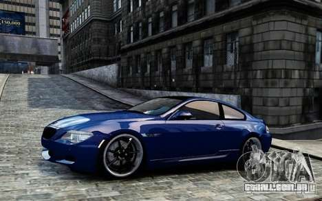 BMW M6 Coupe E63 2010 para GTA 4 esquerda vista