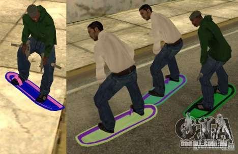 Hoverboard bttf para GTA San Andreas