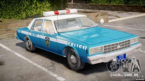 Chevrolet Impala Police 1983 v2.0 para GTA 4 esquerda vista