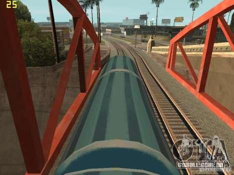 Vagão de metrô surfistas para GTA San Andreas traseira esquerda vista