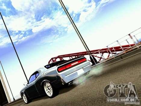 Dodge Challenger SRT8 2009 para GTA San Andreas traseira esquerda vista