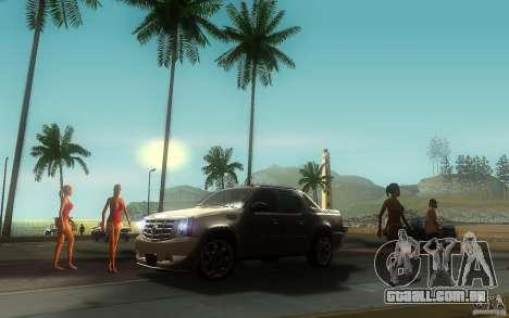 Cadillac Escalade EXT para GTA San Andreas vista traseira