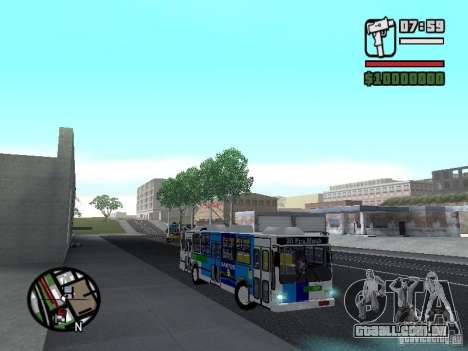 Cobrasma Monobloco Patrol II Trolerbus para GTA San Andreas vista traseira