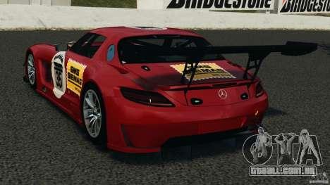 Mercedes-Benz SLS AMG GT3 2011 v1.0 para GTA 4 traseira esquerda vista