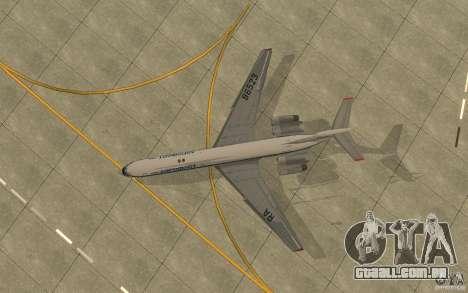Aeroflot Il-62 m para GTA San Andreas vista traseira