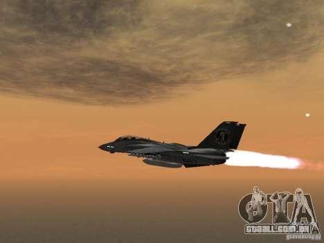 F-14 para GTA San Andreas esquerda vista