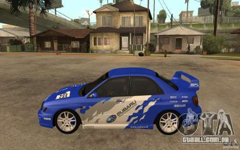 Subaru Impreza WRX para GTA San Andreas esquerda vista