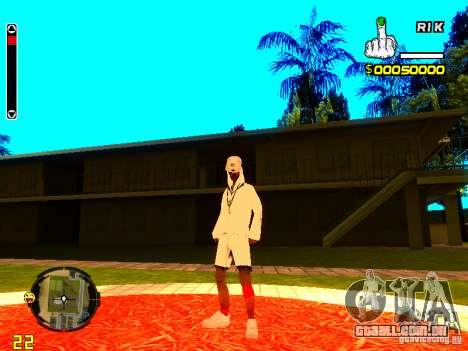 Pele vagabundo v9 para GTA San Andreas terceira tela