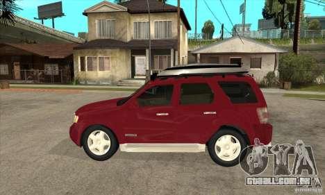 Ford Escape 2009 para GTA San Andreas esquerda vista