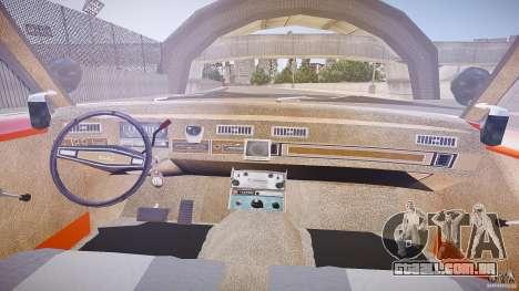 AMC Matador Hazzard County Sheriff [ELS] para GTA 4 vista de volta