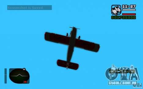 Antonov an-2 para GTA San Andreas traseira esquerda vista
