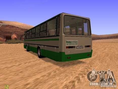 Ikarus C63 para GTA San Andreas traseira esquerda vista