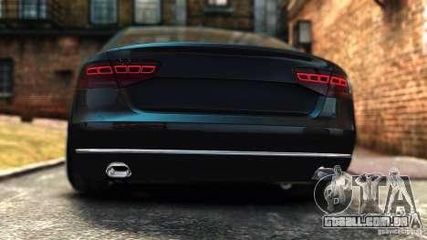 Audi A8 2010 para GTA 4 traseira esquerda vista