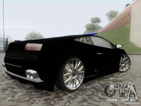 Lamborghini Gallardo LP-560 Police para GTA San Andreas esquerda vista