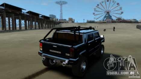 Hummer H2 4x4 OffRoad para GTA 4 esquerda vista