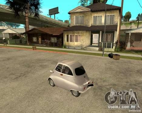 BMW Isetta para GTA San Andreas esquerda vista