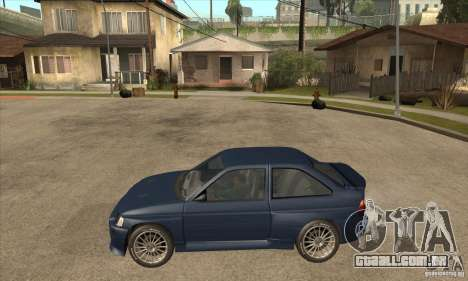 Ford Escort RS Cosworth para GTA San Andreas vista traseira