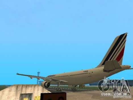 Airbus A300-600 Air France para GTA San Andreas vista direita