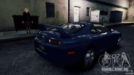Toyota Supra RZ 1998 para GTA 4 traseira esquerda vista