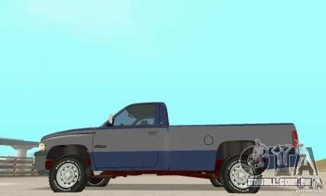 Dodge Ram 2500 1994 para GTA San Andreas vista direita