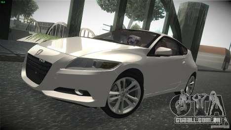Honda CR-Z 2010 V1.0 para GTA San Andreas esquerda vista