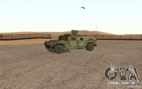 Hummer Spec Ops The Line para GTA San Andreas vista traseira
