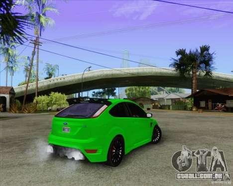 Ford Focus RS para vista lateral GTA San Andreas