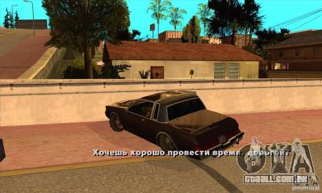 God car mod para GTA San Andreas segunda tela