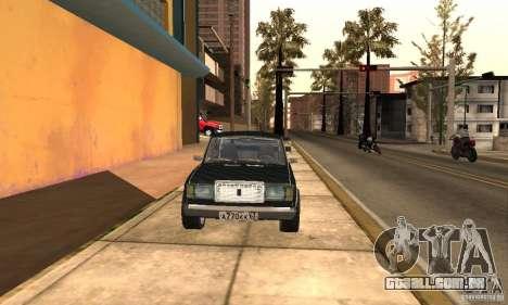 LADA 2107 Turbo para GTA San Andreas vista direita