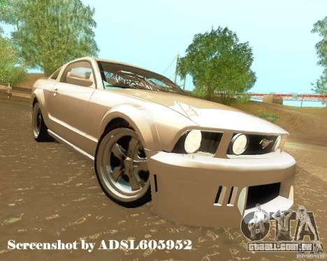 Ford Mustang GT 2005 Tunable para GTA San Andreas vista superior