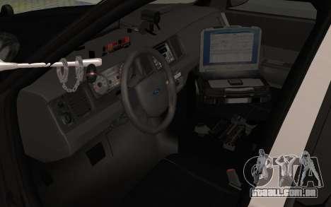 Ford Crown Victoria Police Interceptor LSPD para GTA San Andreas vista traseira