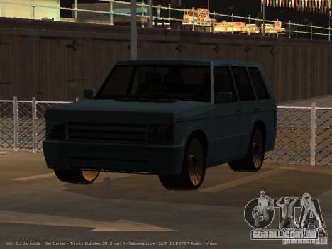 New Huntley para GTA San Andreas traseira esquerda vista