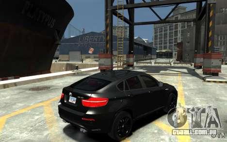 BMW X6 M para GTA 4 vista direita