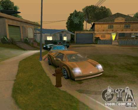 Infernus from Vice City para GTA San Andreas esquerda vista
