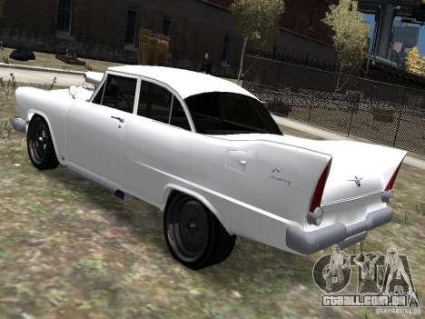 Plymouth Savoy 57 para GTA 4 esquerda vista