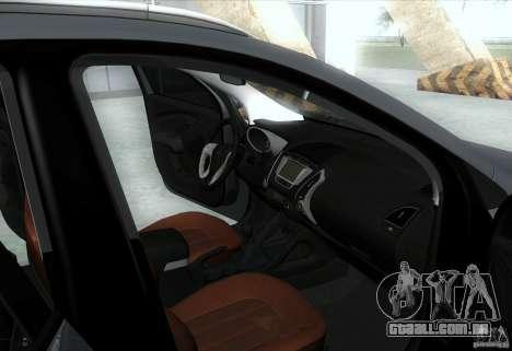 Hyundai ix35 para GTA San Andreas interior