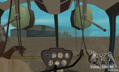 Robinson R44 Raven II NC 1.0 TV para GTA San Andreas vista interior