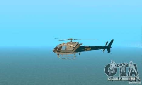 AS350 Ecureuil para GTA San Andreas esquerda vista