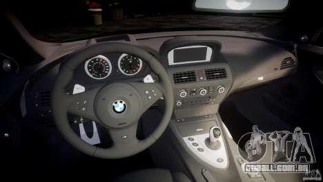 BMW M6 2010 v1.0 para GTA 4 vista de volta
