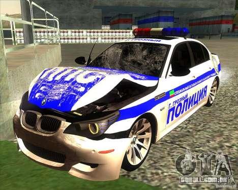 BMW M5 E60 polícia para GTA San Andreas interior