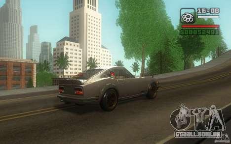 Datsun 240ZG para GTA San Andreas vista interior