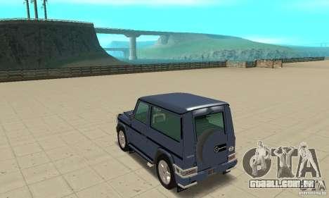 Mercedes-Benz G500 1999 Short [with kangoo v2] para GTA San Andreas traseira esquerda vista