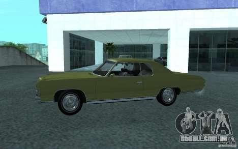 Chevrolet Impala 1971 para GTA San Andreas vista direita