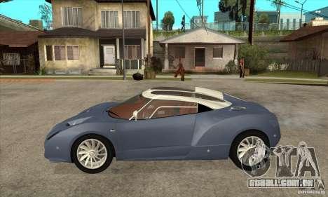 Spyker C12 Zagato para GTA San Andreas esquerda vista