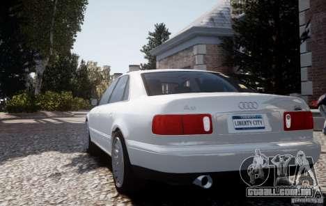 Audi A8 2000 para GTA 4 vista de volta