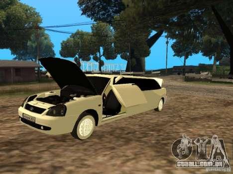 LADA Priora 2170 Limousine para GTA San Andreas traseira esquerda vista