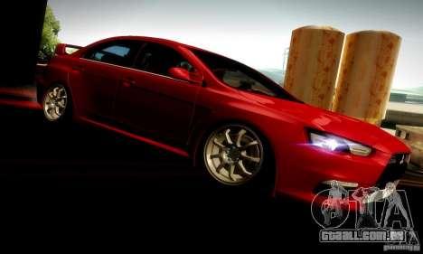 Mitsubishi Lancer Evolution X para GTA San Andreas vista direita