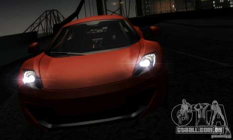 McLaren MP4-12C TT Black Revel para GTA San Andreas vista interior