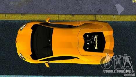 Lamborghini Aventador LP 700-4 para GTA Vice City vista traseira